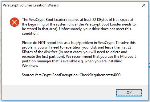 VeraCrypt / Forums / Technical Topics: veracrypt is not