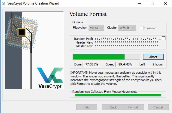 VeraCrypt / Tickets / #183 VeraCrypt 3,5 TB Volume with