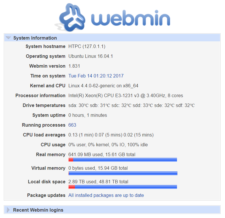 Webmin / Bugs / #4897 Incorrect local disk available