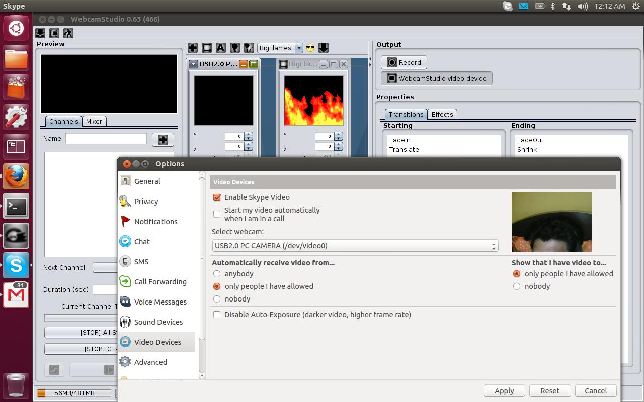 WebcamStudio For GNU/Linux / Tickets / #81 Flash Capture on