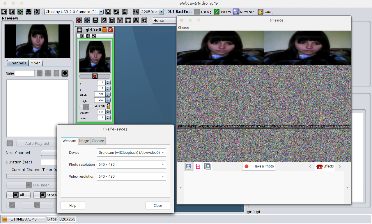 WebcamStudio For GNU/Linux / Tickets / #116 Video Stream Not