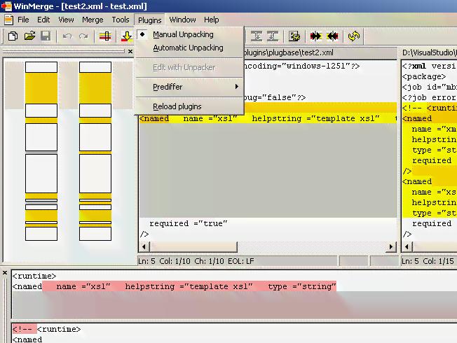 WinMerge / Bugs / #1042 XML unpacking troubles / encoding errors