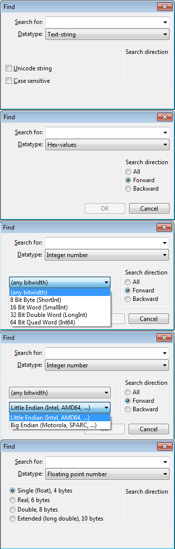 wxHexEditor / Feature Requests / #14 Hex Searching - Advanced