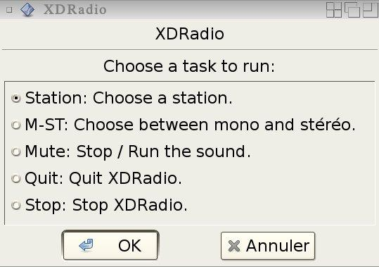 XDRadio main window