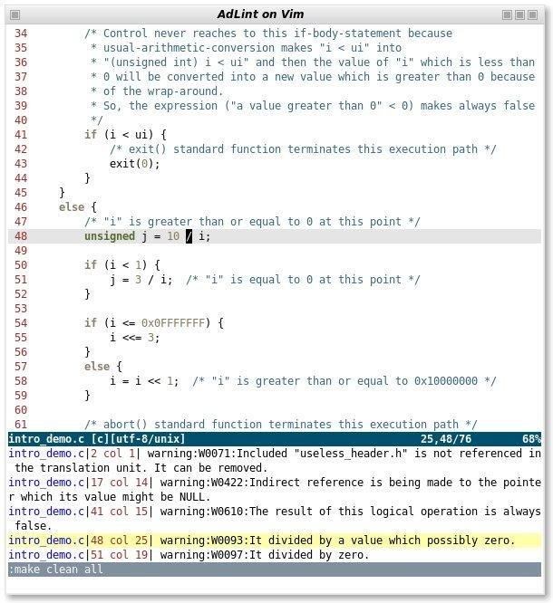 AdLint for Linux full screenshot