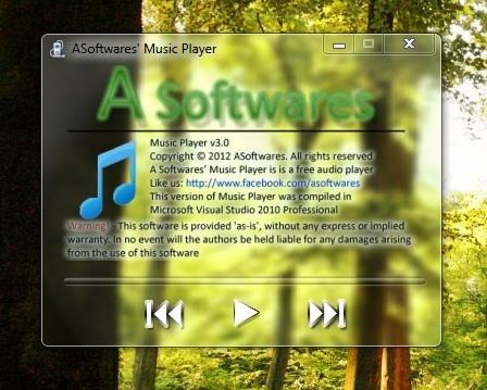 Windows 8 ASoftware's Music Player full