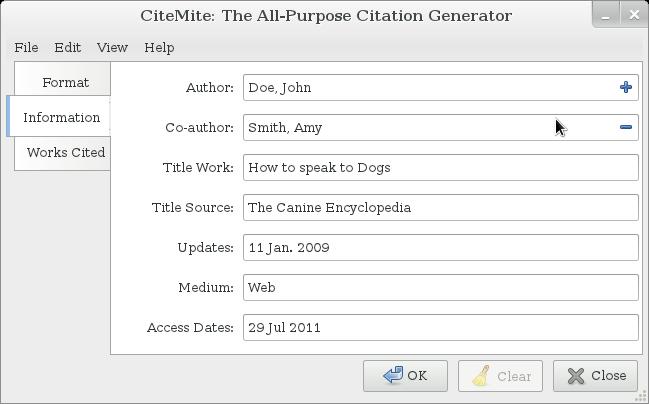 work cited format mla generator
