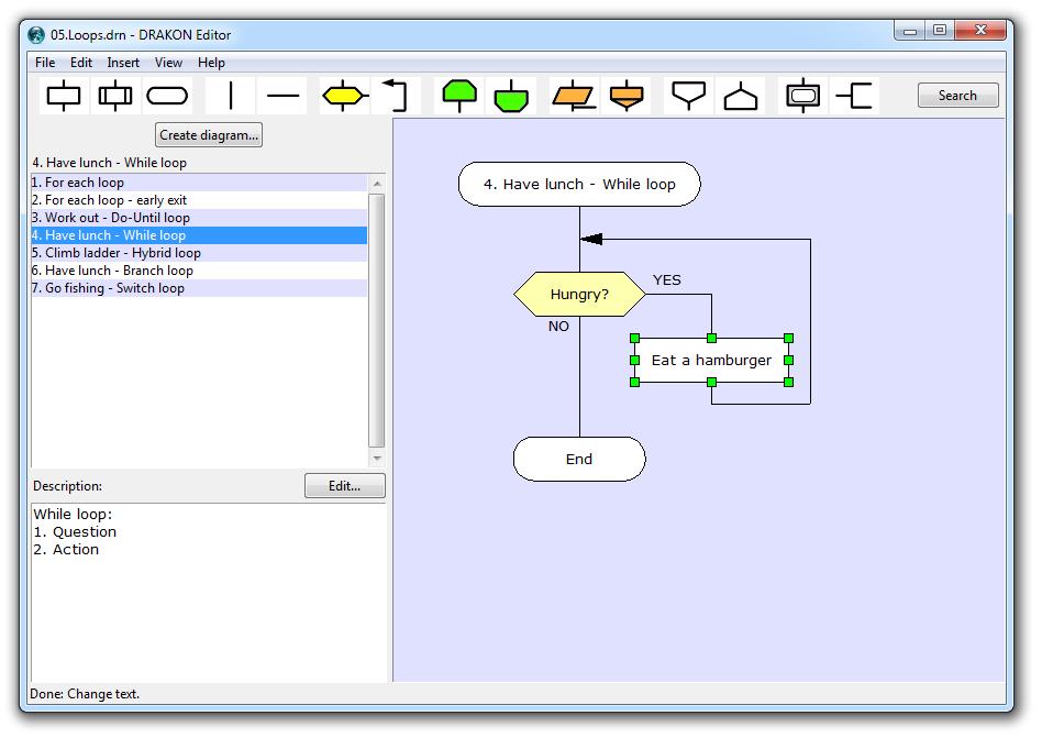 DRAKON Editor full screenshot