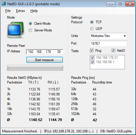 NetIO-GUI Portable 1.0.4 full