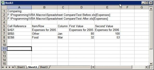 Spreadsheet Compare screenshot